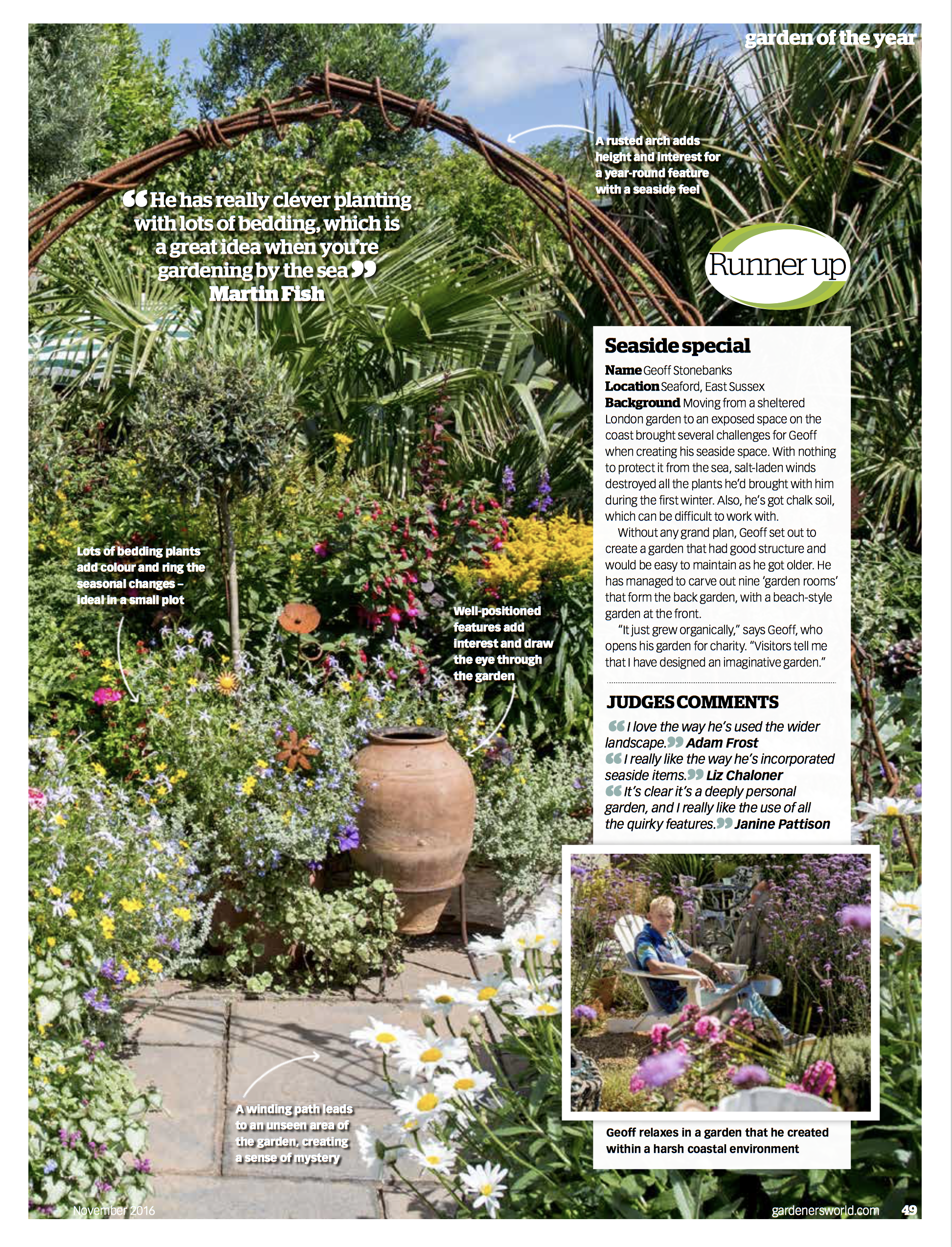I Was Thrilled To See The Whole Page Article About The Garden On Page 49.